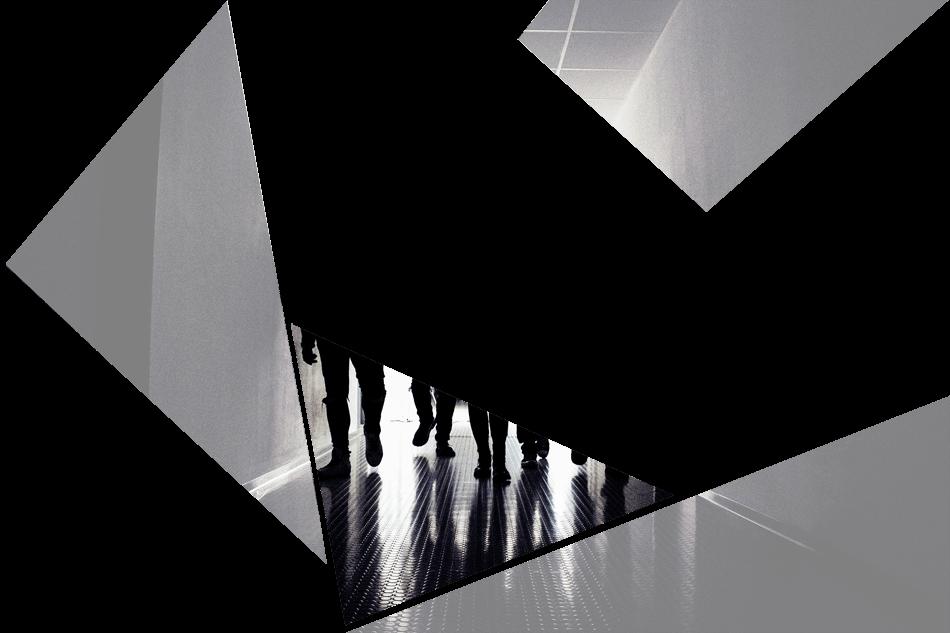 Puzzelteil 4 - Bandfoto - Stone Cold Love - 5 Personen im Schatten - Band im stilvoll beleuchteten Gang - preload Image 4